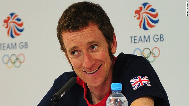 Tour de France winner and Olympic gold medalist Bradley Wiggins, pictured at a news conference at the London Olympics.