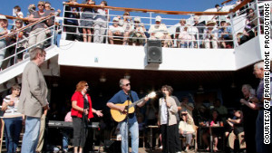 Numerous musical guests perform on the Prairie Home Companion cruise.