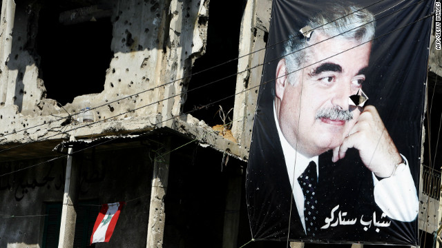 Lebanon's peace has at times been a fragile one. <br/><br/>In 2005, Prime Minister Rafik Hariri (pictured in the poster) was assassinated by a car bomb in central Beirut. Huge public demonstrations against Syria led to the withdrawal of all Syrian military forces in April 2005. <br/><br/>The kidnapping of two Israeli soldiers by Hezbollah in 2006 led to a 34-day conflict with Israel that left approximately 1,200 civilians dead, according to the CIA World Factbook.