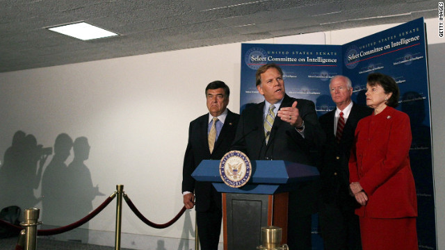 Members of the joint Senate and House Intelligence Committee speaking to the press in June.