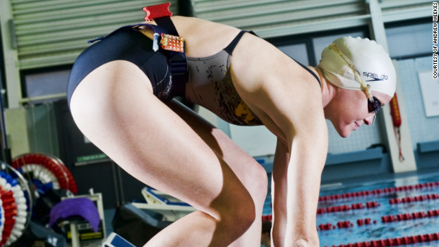 Loughborough's Sports Technology Institute has also been helping British Olympians with their preparations for London 2012. Swimmers have been fitted with tiny tracking devices that allow coaches to review data about the efficiency of their swimming strokes.