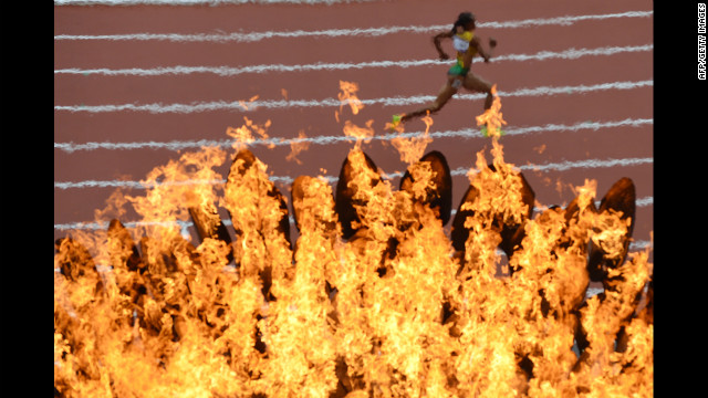 Officials are wondering why running times are faster this Olympics.