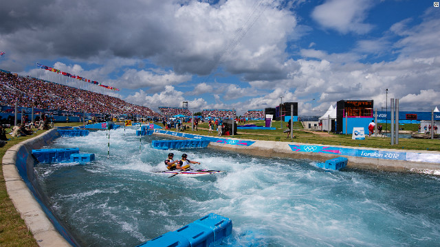 Slovakian brothers Pavol and Peter Hochshorner failed to claim a fourth consecutive gold medal in the men's canoe double after being made to settle for bronze.