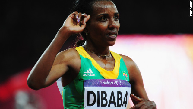 Tirunesh Dibaba gave Ethiopia its first gold of the London Games with a superb win in the women's 10,000m.