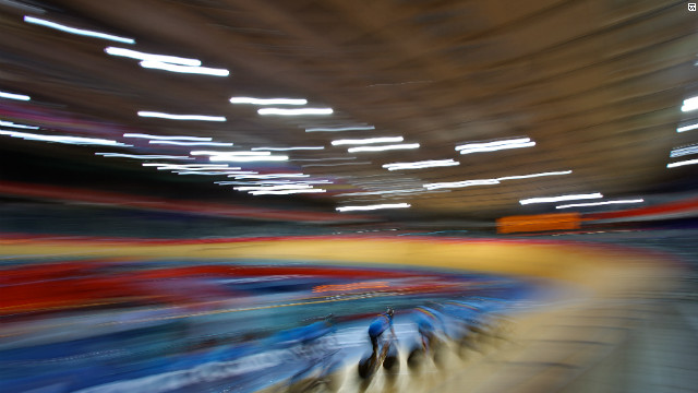 The velodrome opened its doors for the first time at the Olympic Park as riders began their quest for golden glory.