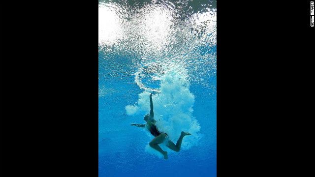 Tania Cagnotto of Italy competes in the women's 3-meter springboard diving semifinal.