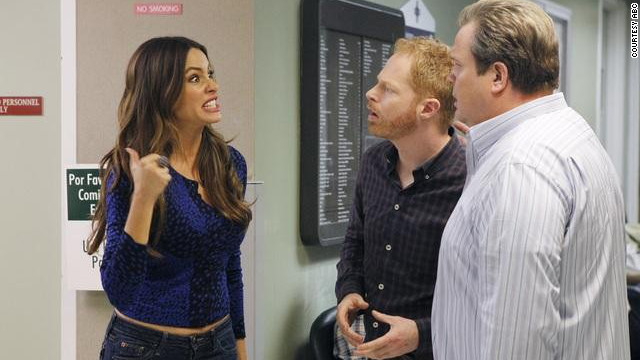 "Stepmom Gloria helps Mitchell and Cam in their quest to adopt a second child on ABC's ""Modern Family."""
