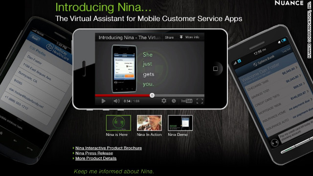 Apple collaborator Nuance releases a software development kit today for its own voice control program, called Nina.