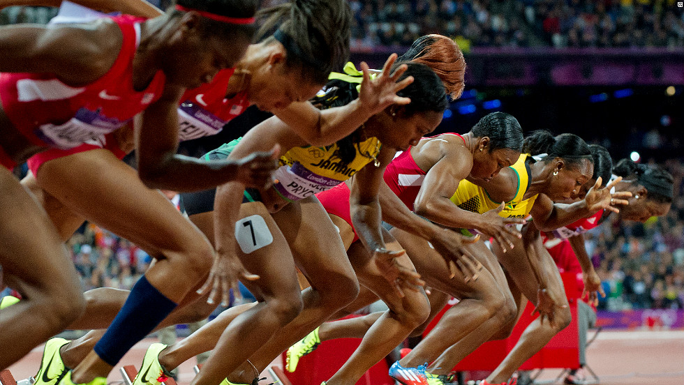 In the first of the two blue riband sprint finals, the world's fastest women lined up for the Olympic 100 meter final on Saturday.
