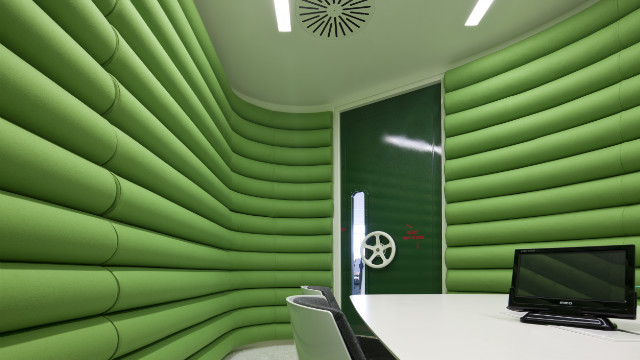 "Some rooms in Google's new offices in London recall Kubrick's 2001: A Space Odyssey. PSFK's Peter Surrena says, ""You have to remember that Google is a Search / Map / Email / Office Suite provider, not exactly the Rolling Stones of product offerings. To keep their products innovative, Google needs to keep their employees innovating, which requires a space that's over-the-top inspiring."""