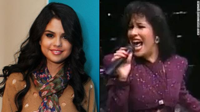 "Selena Gomez, who has said she was named after the late Selena Quintanilla Perez, sings alongside the Latin songstress on the <a href='http://marquee.blogs.cnn.com/2012/04/27/selena-gomez-duets-with-selena-on-tribute-album/' target='_blank'>tribute album</a> ""Enamorada De Ti."""