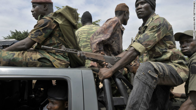 The Ivory Coast Republican Force ride to a search operation on Monday, following a string of attacks targeting the military.