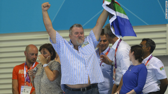 "For Ian Thorpe, watching the reaction from Bert Le Clos after his son beat Michael Phelps, the most decorated Olympian ever, was ""one of those moments that you can't help but love."" Thorpe says: ""This big, burly South African man -- who looked quite frightening -- crying, tears rolling down his face, screaming at the camera: ""It's my beautiful boy."""