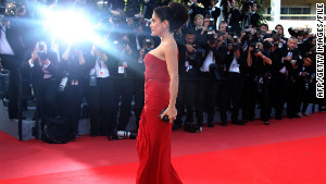 Canne\'s annual film festival draws international celebrities such as Salma Hayek.