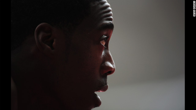 Maurice Mitchell of the United States looks on during the men's 200-meter round 1 heats.