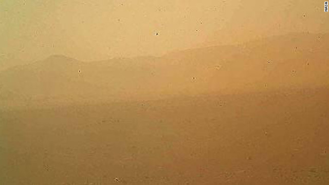 This view of the landscape to the north of NASA's Mars rover Curiosity was acquired by the Mars Hand Lens Imager on Monday afternoon on the first day after landing.