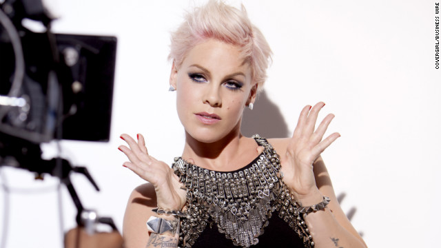 Easy, breezy, beautiful Pink: Singer's now a CoverGirl