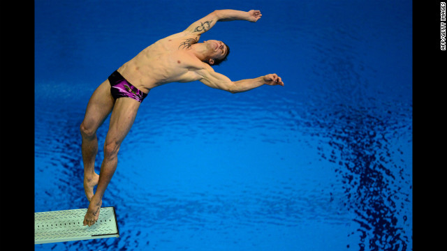 France's Matthieu Rosset competes in the men's 3-meter springboard semifinals Tuesday.