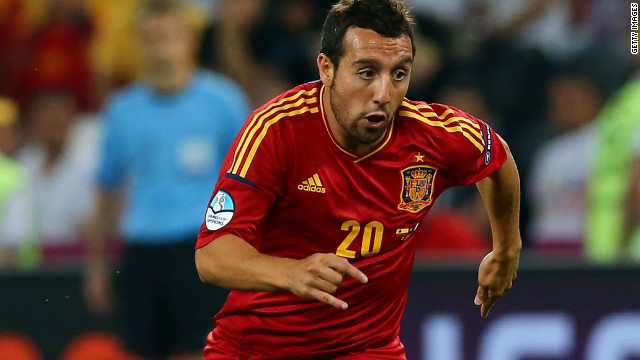 Spain's Santi Cazorla has been capped 45 times.