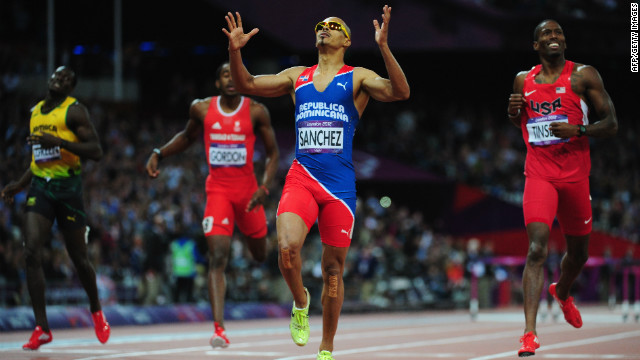 "Felix Sanchez, 400m hurdler representing the Dominican Republic, says he ran with a photograph of himself and his late grandmother tucked inside his running vest. ""I made a promise,"" he says. ""I wanted to win one more championship for her.""<br/><br/>"