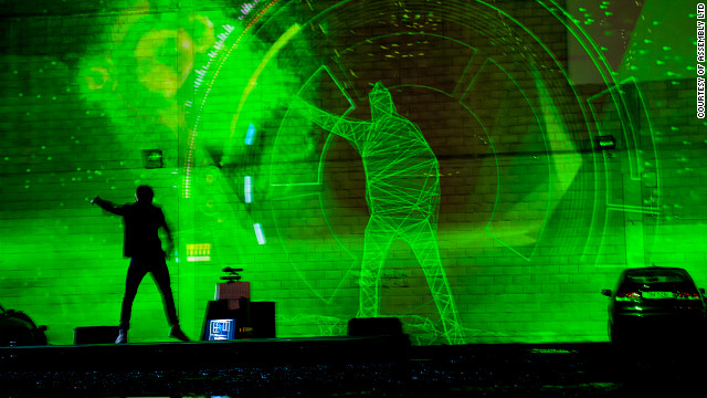 Created by New Zealand-based Assembly Ltd, the V Motion Project uses Kinect to map a performer's movements, which are turned into music. Different moves produced different sounds, rhythms and beats.