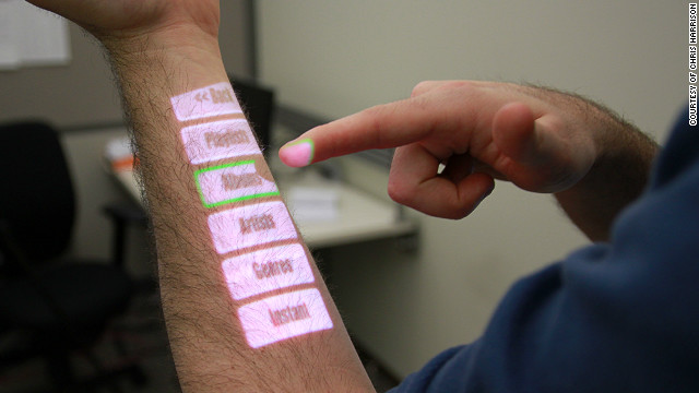 "Microsoft Research in Redmond, Washington, is helping Carnegie Mellon University Ph.D. student Chris Harrison develop ""OmniTouch"" -- a device which turns almost anything into a touchscreen computer."