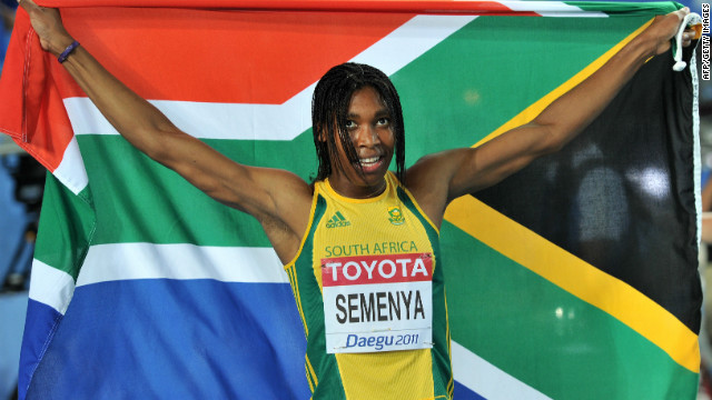 South Africa's Caster Semenya, pictured here on September 4, 2011, makes her Olympic debut Wednesday. 