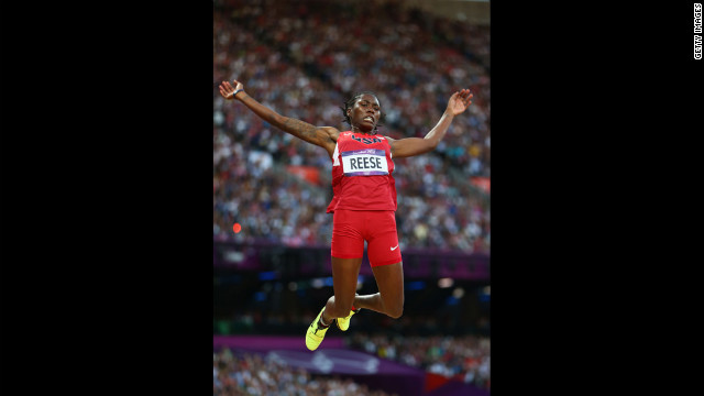 Brittney Reese of the United States competes in the women's long jump final on Wednesday.
