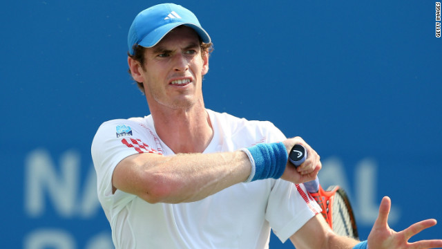 Andy Murray hits a return during his straight sets win over Flavio Cipolla in Toronto. 