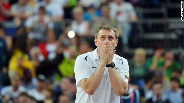 Lithuanian coach Kestutis Kemzura can't believe how much the Spice Girls have aged.