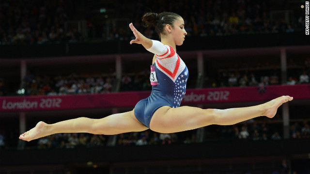 U.S. gymnast Ali Raisman was proud of her gymnastics perfomance during the London Games. While she received a bronze medal in artistic gymnastics, seen here, she also won in other events. &quot;I guess winning two gold medals and then that really exciting feeling of getting the bronze medal, like seeing that up on the score board was really cool,&quot; she gushed to CNN.