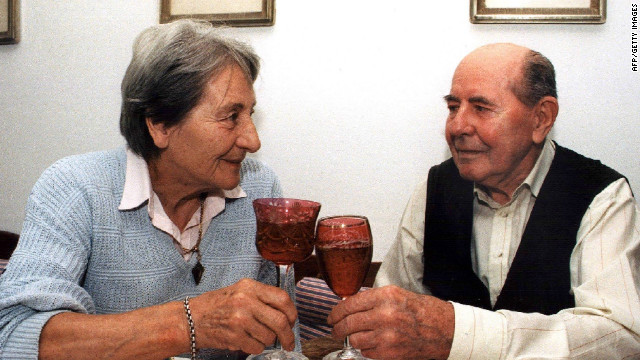 They celebrated their golden wedding anniversay in 1998, but Emil passed away two years later after a long period of ill health. 