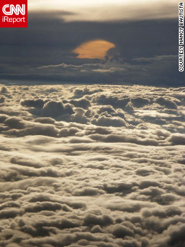 Nancy Bautista took this serene photo during a flight from Fort Lauderdale, Florida, to California. &quot;Looking out of a window during a flight influences my mood most definitely. It just relaxes me.&quot;