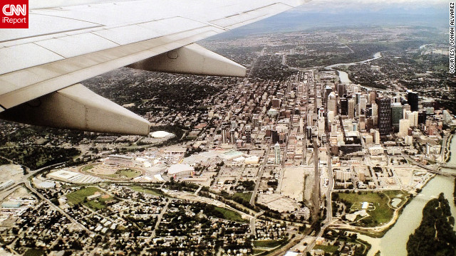 Alvarez took this shot in Calgary on his way to see New York for the first time.