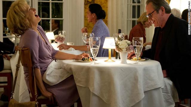 Meryl Streep stars as Kay Soames and Tommy Lee Jones stars as Arnold Soames in