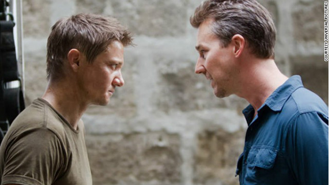Jeremy Renner stars as Aaron Cross and Edward Norton stars as Byer in