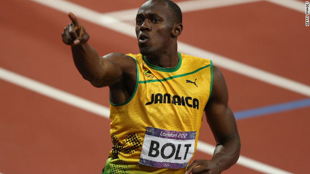 Jamaica's Usain Bolt was peerless at the London Olympics, taking gold in all three of his sprint events