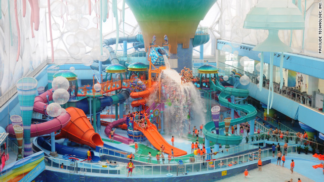 RideHouse is made up of 12 separate slides -- the most of any water-play structure in the world.