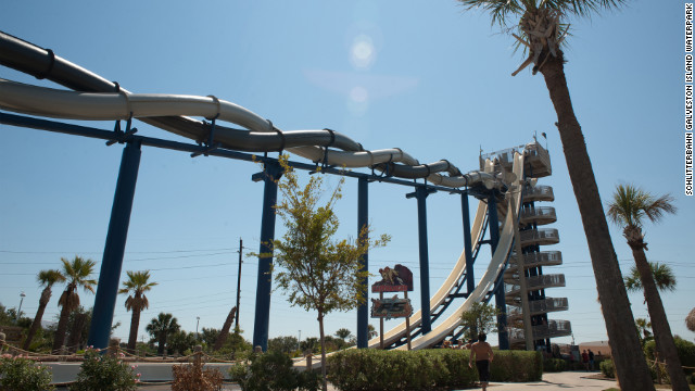 The single body slide Cliffhanger consists of an alarming vertical drop: After being propelled from the top of the tower, riders plunge nearly 81 feet at speeds of up to 35 mph.