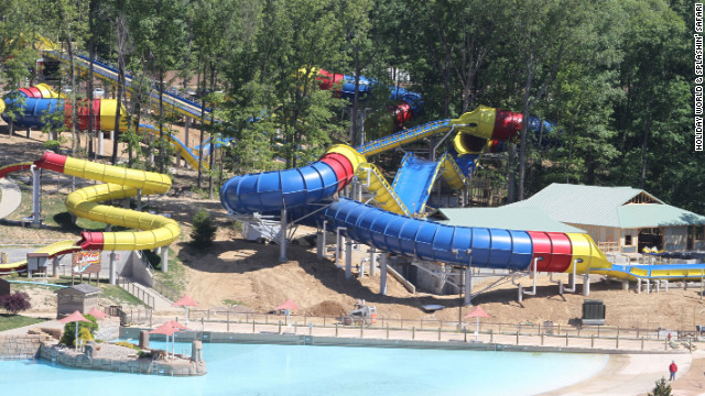 Mammoth is a slide towering seven stories and stretching more than three acres -- making it the world's longest water coaster.