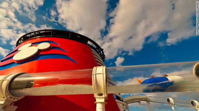 The 765-foot-long, four-deck-high AquaDuck is the cruise industry's first-ever shipboard water coaster.