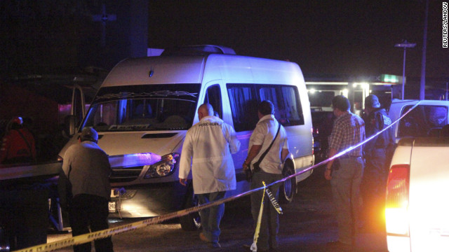 An abandoned van containing 14 bodies was found in San Luis Potosi, Mexico Thursday.