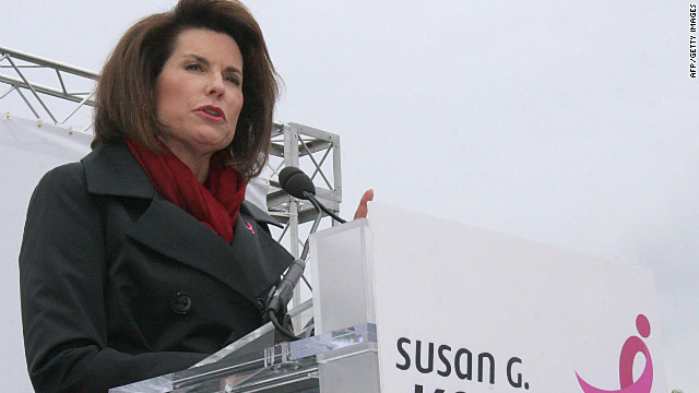 Nancy Brinker will resign as CEO of the Susan G. Komen for the Cure foundation.