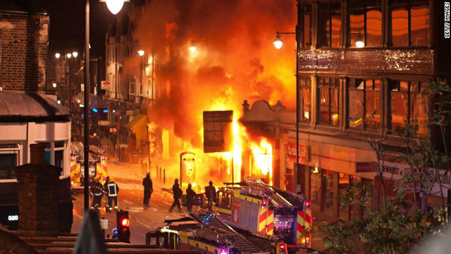 The riots were the worst London had seen in nearly two decades. Pictured is a scene from one of the worst-hit areas, Tottenham, north London, on August 6, 2011.