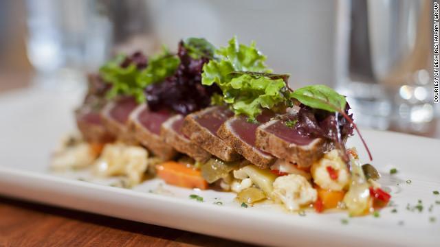 The cuisine at Borgne at the Hyatt Regency focuses on coastal Louisiana.