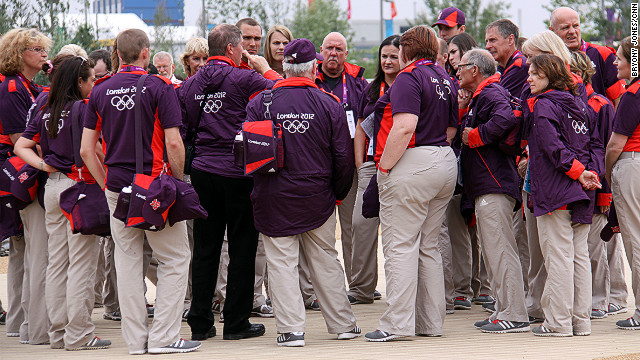 The volunteers have been credited with helping ensure the success of London's Olympics, creating a happy, positive mood in the city.