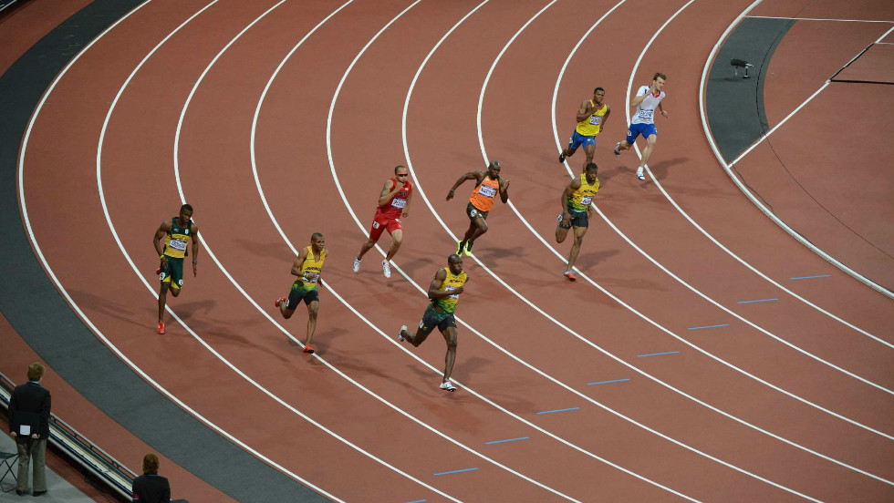 The eyes of the world were on the men's 200m final, with Jamaica's Usain Bolt looking to set an Olympic record by retaining his title at the distance as he had done in the 100m.