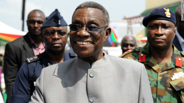 Before his political career, Mills taught at the University of Ghana and also was a visiting lecturer at Temple University in Pennsylvania and Leiden University in the Netherlands. He ran for president unsuccessfully in 2000 and 2004 before narrowly winning a runoff in 2009.<br/><br/>