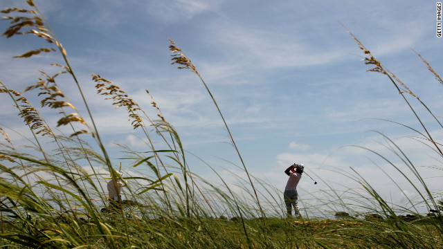 Ryo Ishikawa of Japan hits off the fourth tee during round three in South Carolina on Saturday.