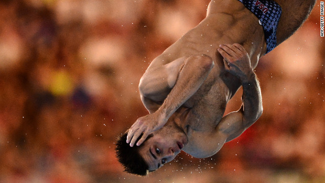 United States diver Nicholas McCrory competes in the men's 10-meter platform semifinals.